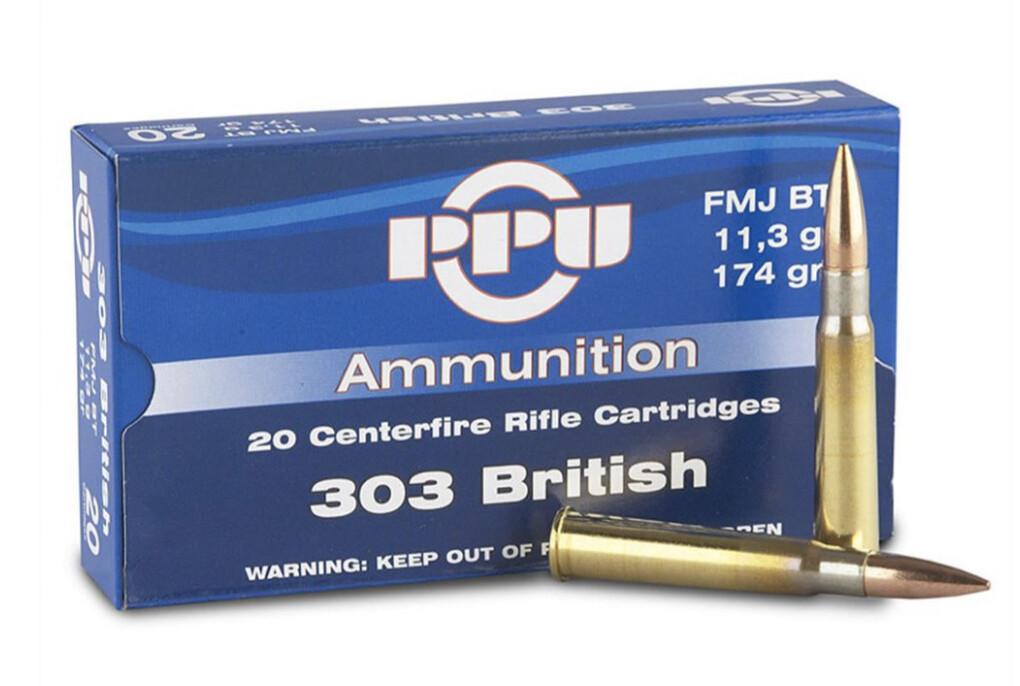 PPU .303 British 174Gr FMJ-BT Box of 20 Rounds