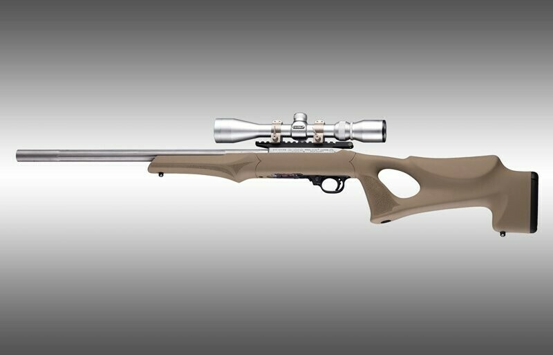 Hogue Ruger 10-22 Tactical Thumbhole Stock .920 Barrel Channel Flat Dark Earth OverMolded Rubber