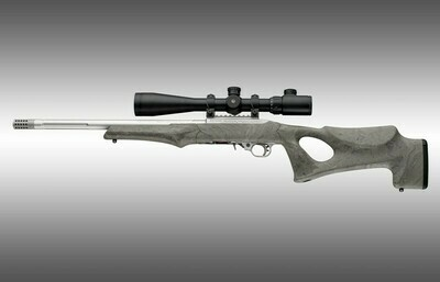 Hogue Ruger 10-22 Tactical Thumbhole Stock .920 Barrel Channel Ghillie Green OverMolded Rubber