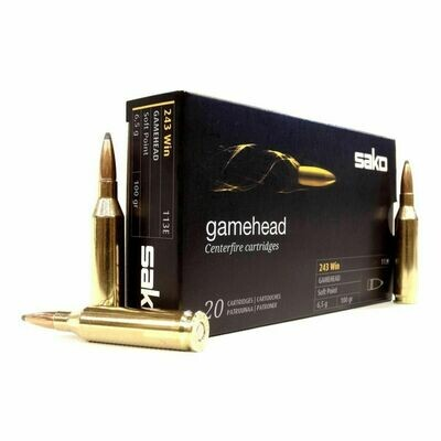 Sako .243 Gamehead Soft Point 100gr, 20 rounds per box