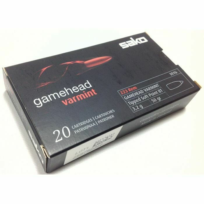 Sako .223 50GR Gamehead Varmint Ammunition , Box of 20 Rounds