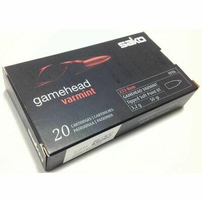 Sako .223 50GR Gamehead Varmint Ammunition , Box of 20 Rounds