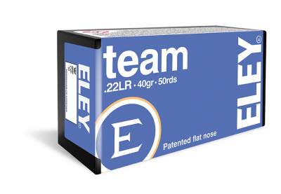 ELEY TEAM 22LR 40GR FLAT NOSE