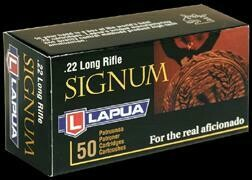 Lapua Signum Ammunition 22 Long Rifle 40 Grain Lead Round Nose Box of 50