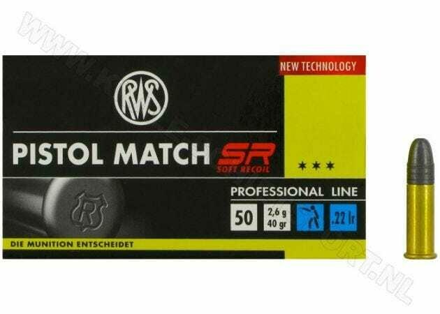 Ammunition RWS Pistol Match SR .22 LR RN 40 Grain