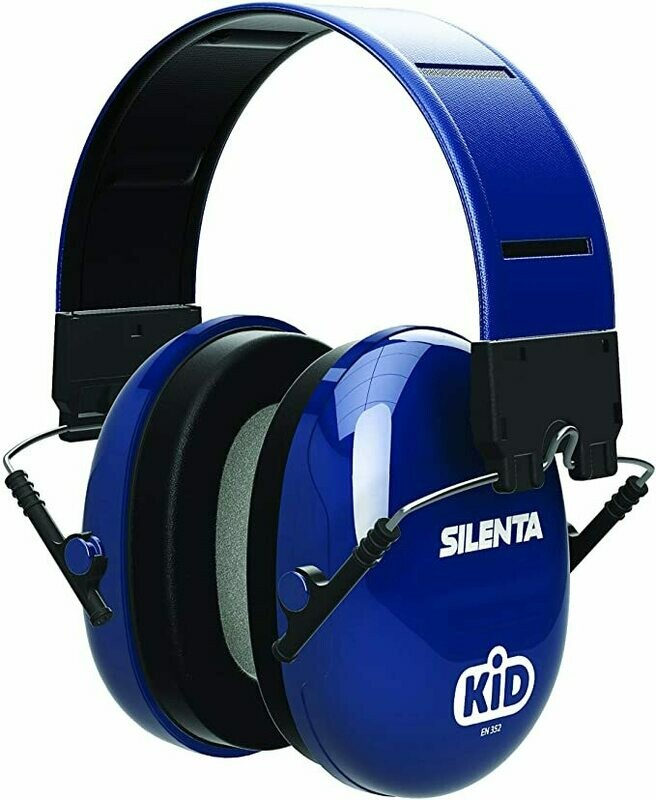 Silenta Kid Children/Kids Ear Defenders - Blue  with matching reflective headband