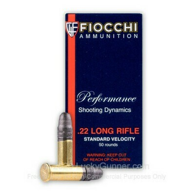 Fiocchi – .22 LR – Standard Velocity 40gr Lead RN Box of 50 rounds