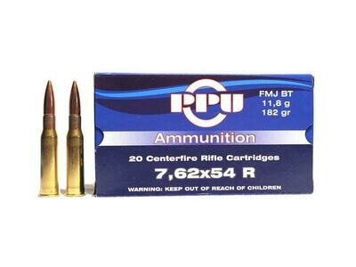 Prvi Partizan 7.62x54R 182 Grain FMJ BT Box of 20 rounds
