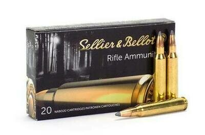 Sellier & Bellot SP Ammunition .22-250 Remington 55 gr box of 20