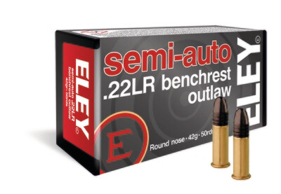 ELEY semi-auto benchrest outlaw box of 50 rounds