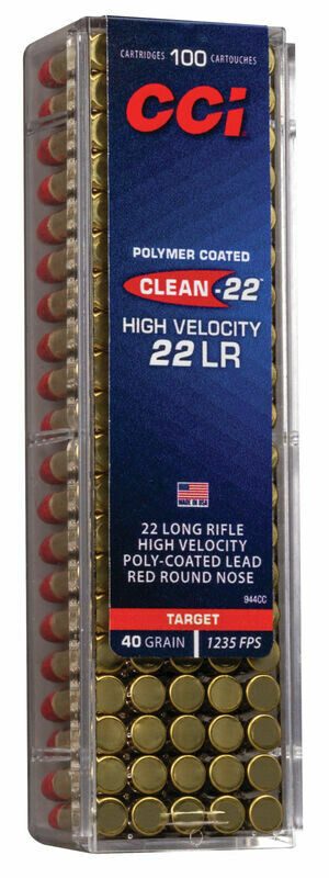 CCI Clean-22 High Velocity Box of 100 rounds
