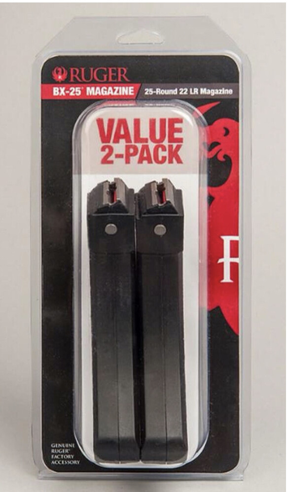RUGER 10-22® BX-25® MAGAZINE 25-ROUND 2-PACK