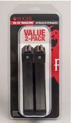 RUGER 10-22® BX-25® MAGAZINE 25-ROUND 2-PACK