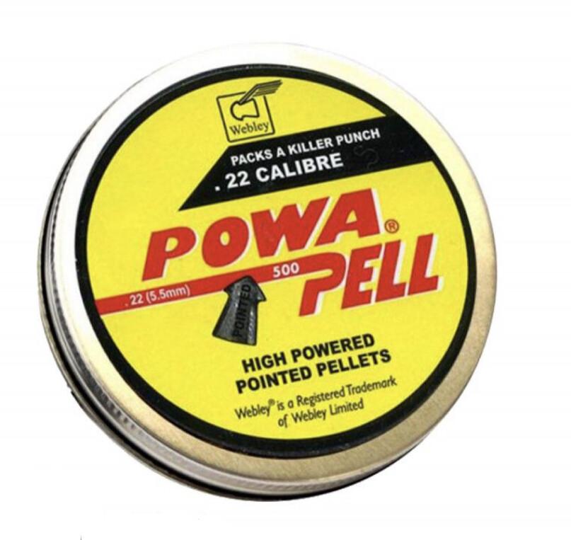 Webley Powa Pell .22 / (5.5mm) Airgun Pellets