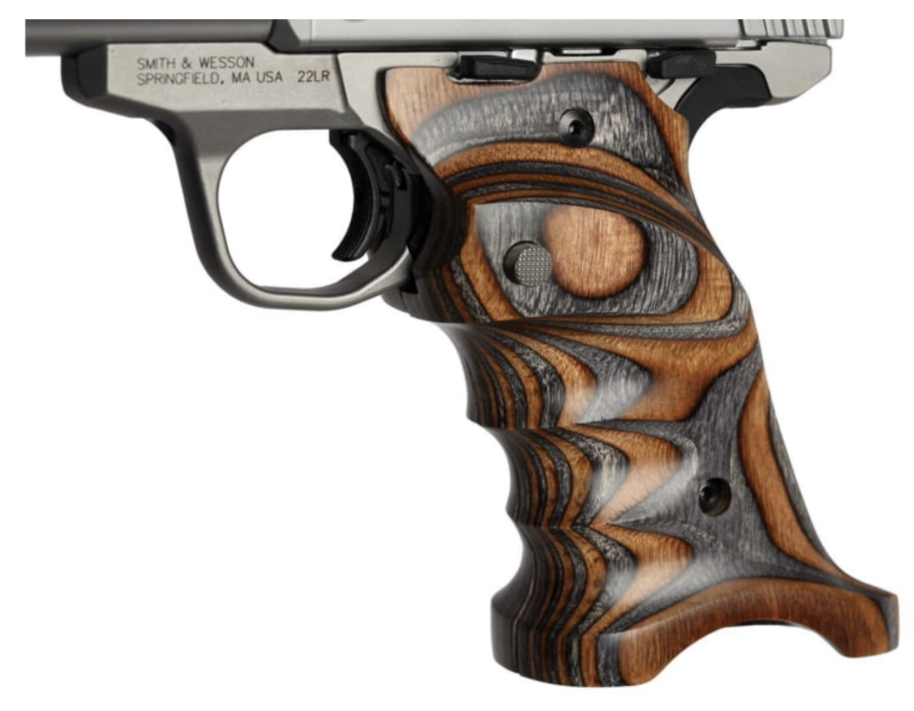 Volquartsen Laminated Wood Grips for the Smith & Wesson Victory .22, Brown Gray, VCSWG-BG