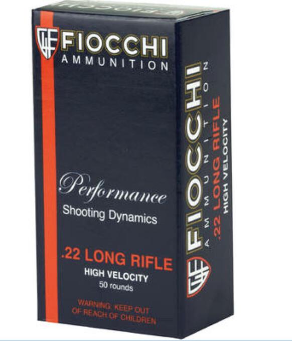 Fiocchi – .22 LR - 38 Grain High Velocity 50 Rounds