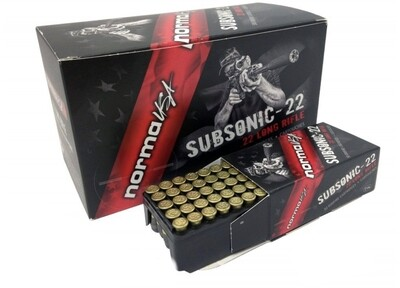 Norma .22LR 40gr Subsonic Lead Hollow Point