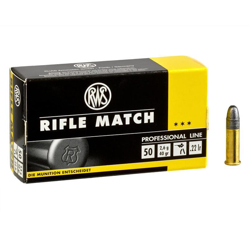 Ammunition RWS Rifle Match .22 LR RN 40 Grain