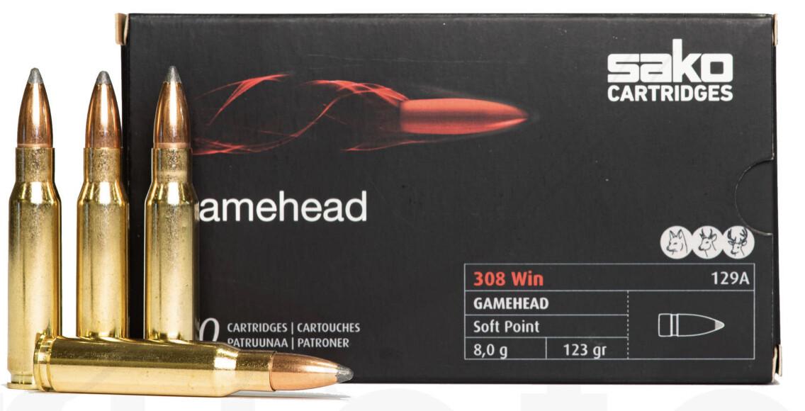 SAKO GAMEHEAD .308 WIN 8,0G 20PCS