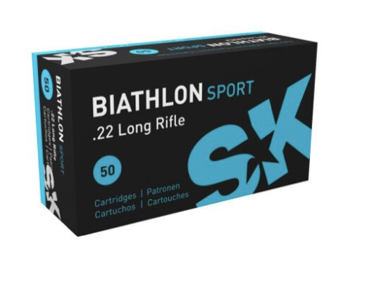 Sk Ammunition .22LR Biathlon Sport LRN, 40 Gr, box of 50 Rounds