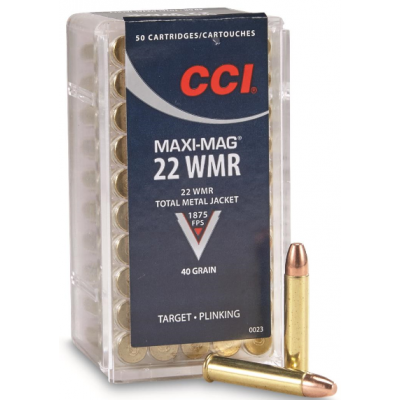 CCI MAXI-MAG WMR22  Round Nose Box of 50
