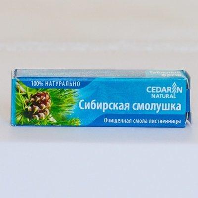 Сибирская смолушка пластинка лиственничная для полости рта 5г