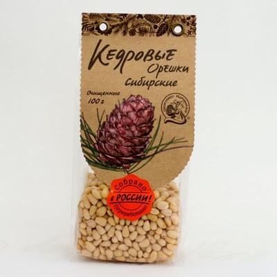 Кедровые орехи сибирские очищенные 100г