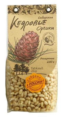 Кедровые орехи сибирские очищенные 200г