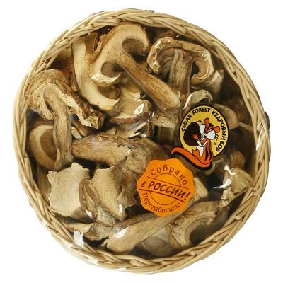 Грибы сушеные белые в подарочной корзинке 70г