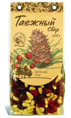 Смесь орехово-ягодная №6 (орехи кедровые дальневосточные, клюква) 200г