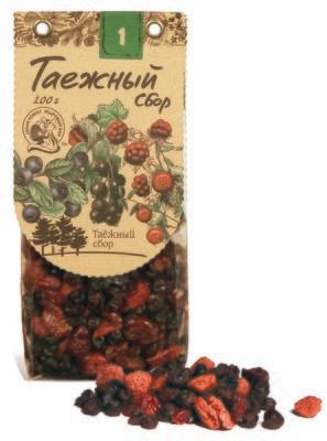 Смесь ягодная №1 (клюква, черная смородина, черника, малина) 200г