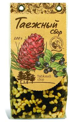 Смесь орехово-ягодная №4 (орехи кедровые сибирские, черника) 200г