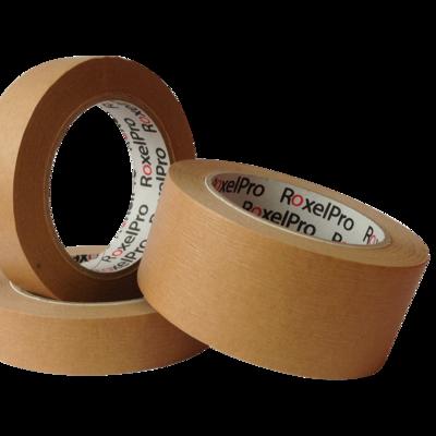 Малярный скотч RoxelPro 80°, коричневый, 18мм. х 40м.