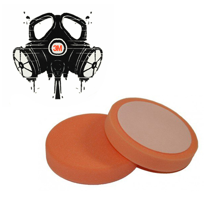 Полировальник 3mrussia-shop для абразивной пасты оранжевый жесткий D=150мм.(30 мм. толщина)