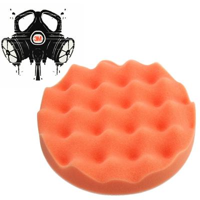 Полировальник 3mrussia-shop для абразивной пасты оранжевый рифленый жесткий D=150мм. (30 мм.толщина)