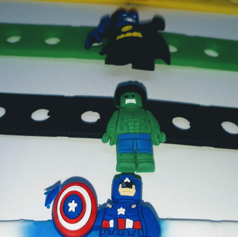 10 Braccialetti personalizzati Lego Movie in 3D gomma silicone pvc morbido gadgets fine festa a tema compleanno bambini