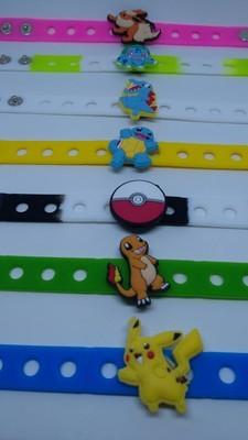 10 Braccialetti personalizzati Pokemon Go in 3D gomma silicone pvc morbido gadgets fine festa a tema compleanno bambini