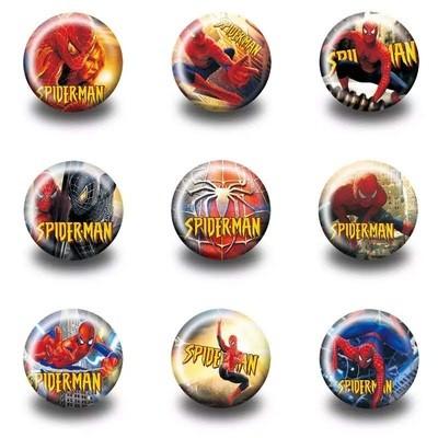 10 Spille 3cm zaino scuola personalizzate Spiderman gadget economici fine festa a tema compleanno bambini