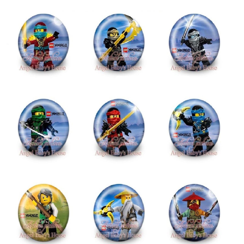 10 Spille 3cm zaino scuola personalizzate Lego Ninjago