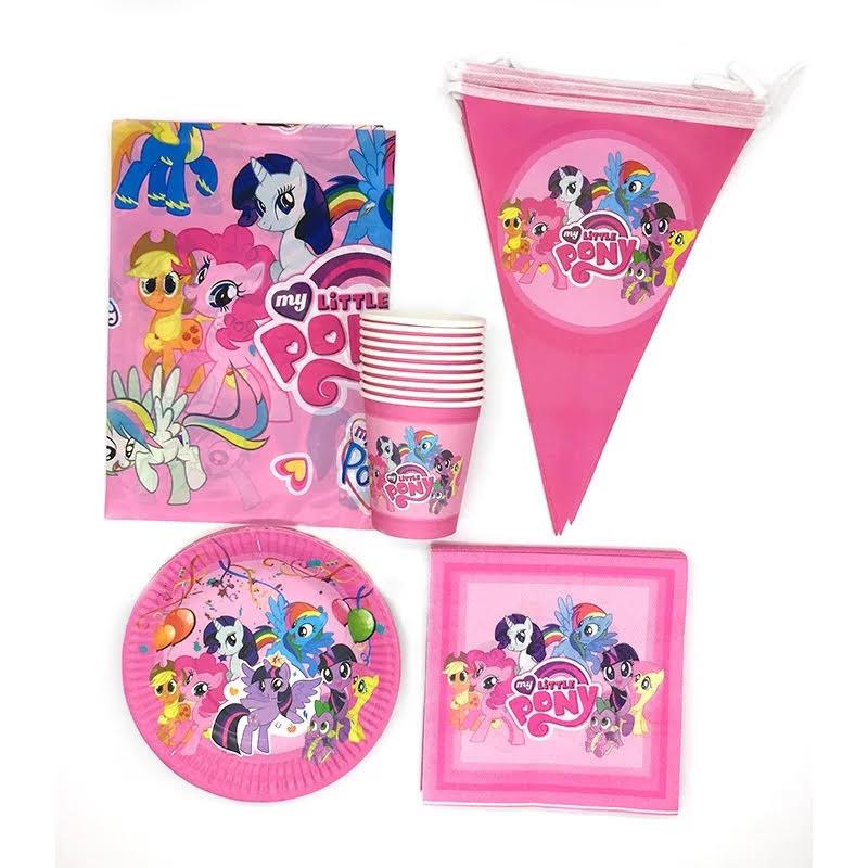 set tavola My Little Pony piatti bicchieri tovaglioli Tovaglia Festone bandierine addobbi decorazioni festa compleanno