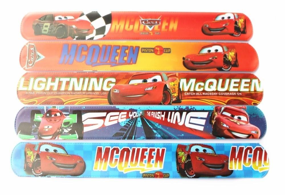 10 Bracciali Cars Saetta McQueen Braccialetti Slap gadget a tema