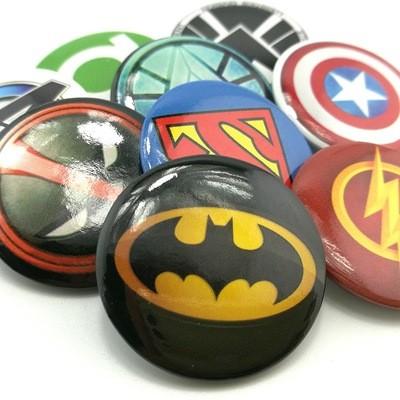 10 Spille 3cm zaino scuola personalizzate Avengers gadget economici fine festa a tema compleanno bambini