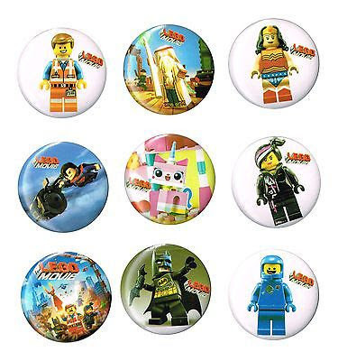 10 Spille 3cm zaino scuola personalizzate Lego Movie gadget economici fine festa a tema compleanno bambini