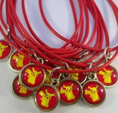 10 Collane a tema Pikachu ciondolo cabochon