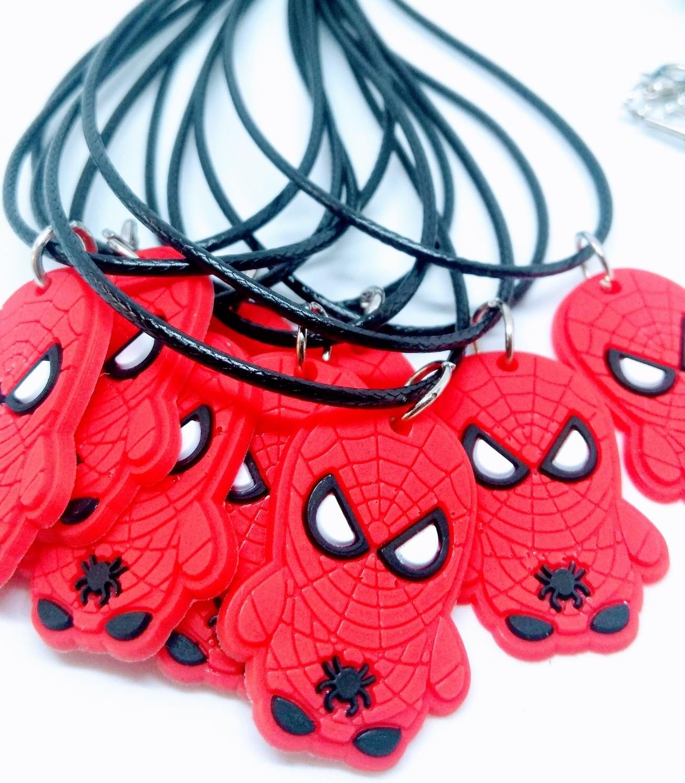 10 Collane Spiderman pendente in PVC