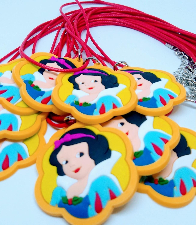 10 Collane Principessa Biancaneve pendente in PVC