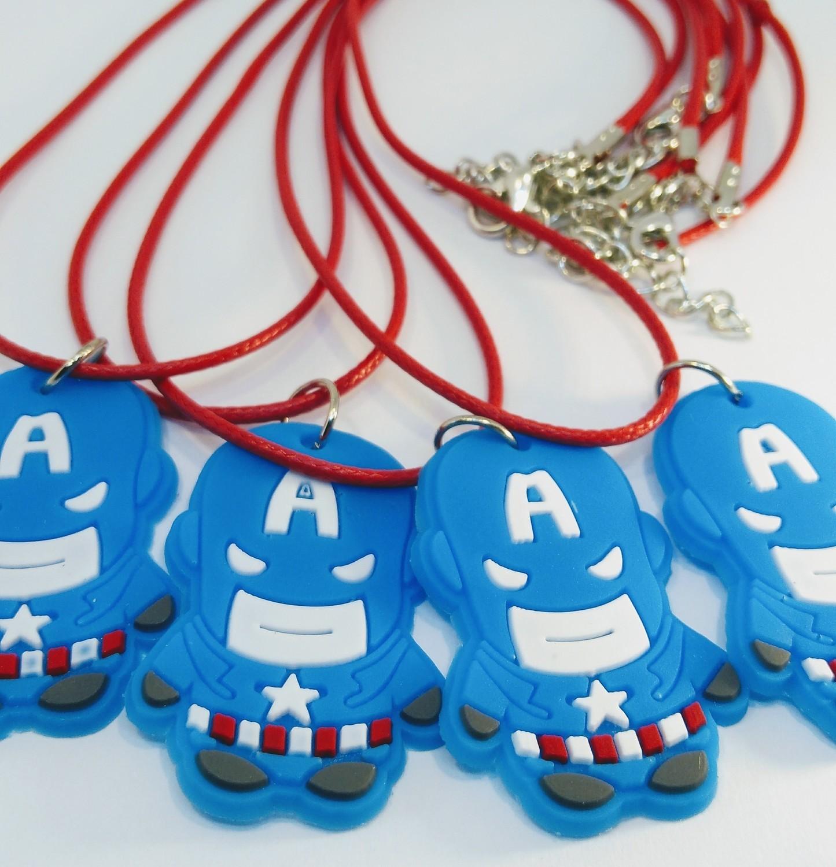 10 Collane Capitan America pendente in PVC