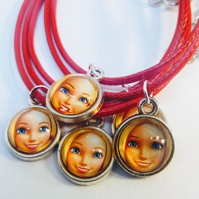 10 Collane a tema Barbie ciondolo cabochon