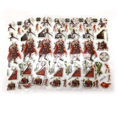 30 fogli stickers Adesivi Avengers