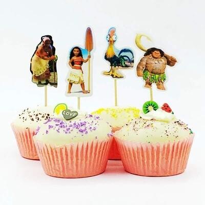 24 bandierine Oceania decorazioni torte topper Plum cake statuine Tortini